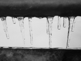 Icicles everywhere...