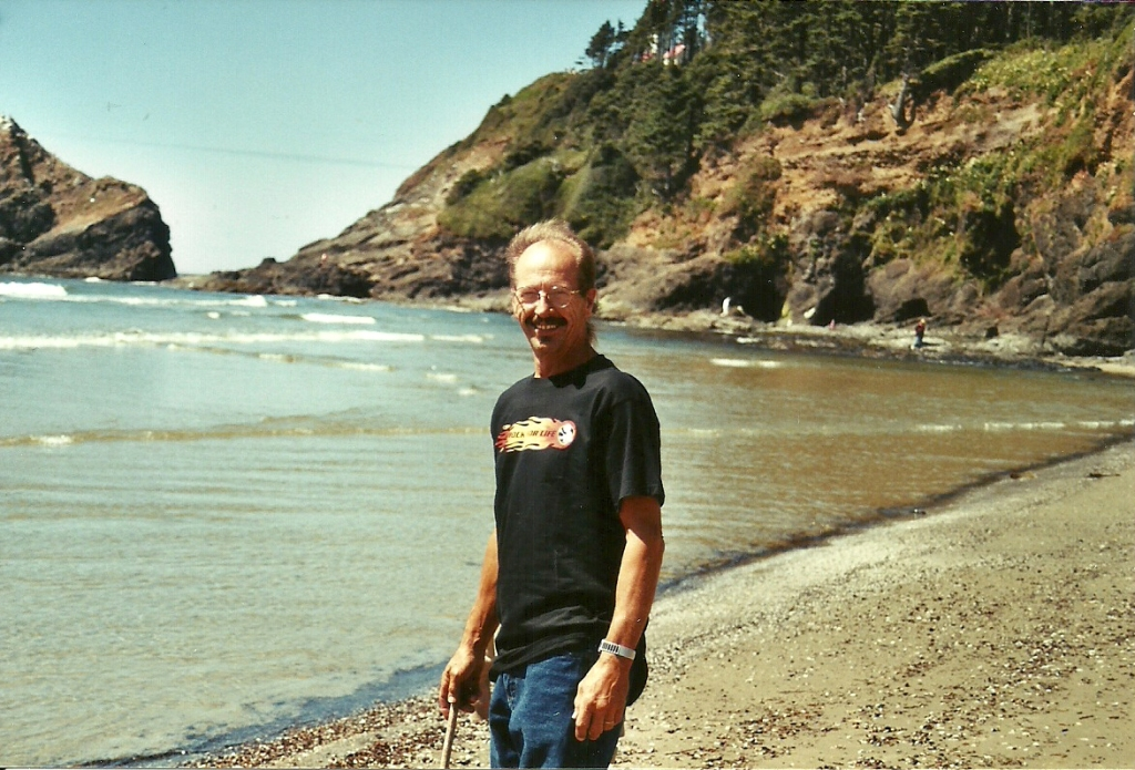 My dad, Gary Trucke, on a trip with our family to the Oregon coast 2000...