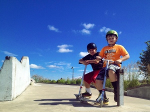 Creed & Traben, ready take on the skate park where we spend time almost every, single day...